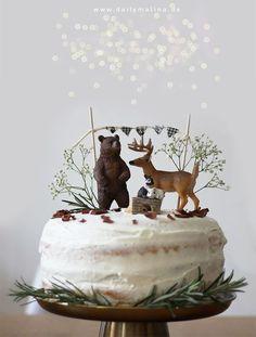 "Birthday Cake ""The Animals of the Forest"" - Naked Cake with Mas .- Geburtstagstorte ""Die Tiere des Waldes"" – Naked Cake mit Mascarpone A special birthday cake for small children: A Naked Cake with forest animals - Special Birthday Cakes, First Birthday Parties, First Birthdays, Birthday Tags, Baby Birthday, Birthday Cake Kids Boys, Naked Cakes, Baby Party, Savoury Cake"