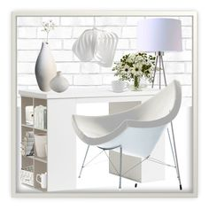 """""""White"""" by marionmeyer on Polyvore featuring interior, interiors, interior design, Zuhause, home decor, interior decorating, Tempaper, ORE, PBteen und Jo Malone"""