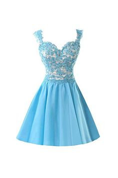 Chiffon Applique Homecoming Dresses Short Prom Dresses With Straps PG091