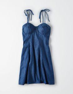 4eae81ae68 AE Plaid Tie Strap Dress