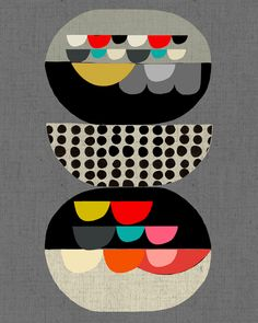 new work by Inaluxe, aqua red white grey mustard pink grey and black on charcoal