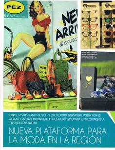 IFS en Revista Galería Uruguay. #moda #chile #moda #modachile #santiago #modasantiago #revistagaleria #uruguay #magazine #reportaje International Fashion, Chile, Fashion Show, Comic Books, Magazine, Comics, Cover, Santiago, Uruguay