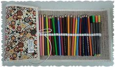 Estojo rolinho para lápis de cor