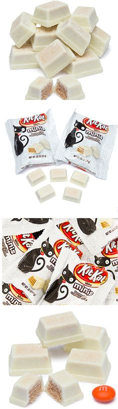 Kit Kat + white chocolate = Perfect Halloween treat!  http://www.candywarehouse.com/products/kit-kat-white-minis-snack-size-packs-10-piece-bag/?utm_source=Pinterest&utm_medium=Social&utm_campaign=Halloween