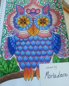 Today I was coloring at the beach. :) Coloring page from coloring book Mielikuvia vol1 by Päivi Vesala. Prismacolor Premier.