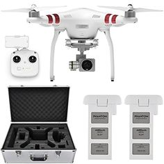 DJI Phantom 3 Standard Quadcopter Drone w/ 2.7K Camera   Extra Battery and Hard Case *** For more information, visit image link.
