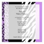 Anniversary - Zebra Stripes Leopard - Purple Magnetic Card