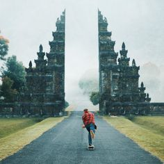 An amazing gate in Bali, Indonesia