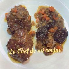 La Chef de mi cocina: Carrillada de cerdo con salsa de manzana y ciruelas (Multicook pro de Tefal)