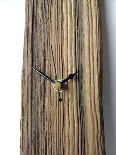 Driftwood Clock  Wall Beach Clock  Recycled Wood  by NaturalClocks, £15.00