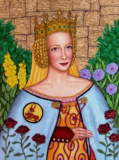 """Joan """"The Fair Maid of Kent"""" (1328-85), wife of """"The Black Prince"""", mother of King Richard II"""