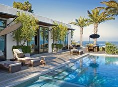 vivi nevo's malibu beach house with pool overlooking the ocean