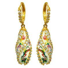 Viyari Kremlin Multicolor Swirl Teardrop Dangle Earrings - go to http://www.viyari.com/love-collection/