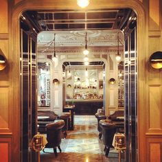 The Connaught Bar. A study in chic.