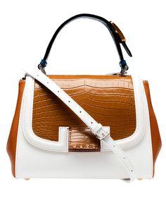 "Fendi 'Silvana"" Glazed Crocodile and Leather Bag...only $7,937..."