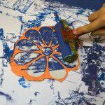 koláže, tisky z koláže, barvy na linoryt, grafické techniky, otisky, výtvarné nápady, nápady na tvoření, tvoření s dětmi — výtvarné návody a postupy na tvoření