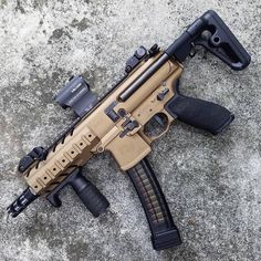 Build Your Sick Custom Assault Rifle Firearm With This Web Interactive Firearm Gun Builder with ALL the Industry Parts - See it yourself before you buy any parts Airsoft Guns, Weapons Guns, Guns And Ammo, Ar Pistol, Battle Rifle, Custom Guns, Custom Ar, Submachine Gun, Military Guns