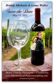 Save the Date Magnets - Vineyard Photo