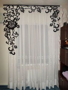 Luxury Curtains, Home Curtains, Wrought Iron Wall Decor, House Gate Design, Interior Decorating, Interior Design, Curtain Designs, Home Design Plans, Window Treatments