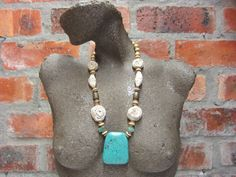 Pendant Necklace Statement Necklace Occasion by YokaWright on Etsy, $69.00