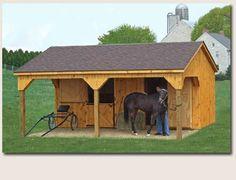One horse barn!