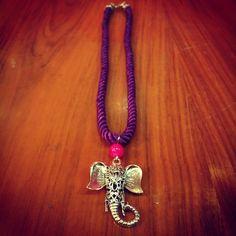 Collar Elefante. Made in Rajani Shop.