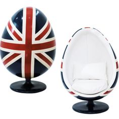 union jack egg chair, Ashton would DIE British Decor, British Style, Ball Chair, Egg Chair, Union Jack Bedroom, Little Britain, Union Flags, British Things, Uk Flag