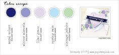 February 2017 Color Recipe #4 (Royal Velvet, Winter Wisteria, Lilac Grace, Spring Rain, Vintage Jadeite)
