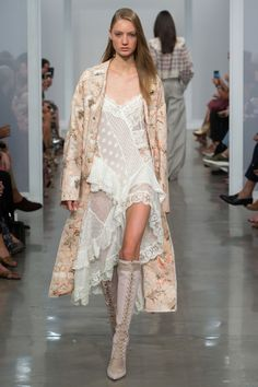 Zimmermann Spring 2017 Ready-to-wear collection Australia designer new york fashion week collection style runway Bowerbird Duster Trench, Bowerbird Lovers Chemise, Lace Up Long Boot Fashion Week, Fashion 2017, New York Fashion, Runway Fashion, Spring Fashion, High Fashion, Fashion Show, Fashion Design, London Fashion