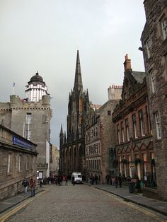 """Camera Obscura, Edinburgh--appears to be along the """"Royal Mile""""."""