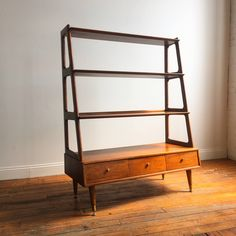 Mid Century Modern Wall Unit / Bookcase / Room Divider by Mcm Furniture, Furniture Design, Mid Century Modern Bookcase, Bookcase Wall Unit, Modern Wall Units, Furniture Companies, Home Decor Inspiration, Mid-century Modern, The Unit