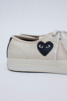 Converse Jack Purcell Play sneaker in white from Comme des Garcons. Comme Des Garcons Sneakers, Comme Des Garcons Play, Jack Purcell, Basket Sneakers, Shoes Sneakers, Comme Des Garçons Shoes, Fashion Week, Mens Fashion, Fashion Addict