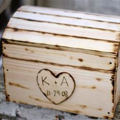 Wedding Box: Guests at the reception write down advice and/or favorite memories of the couple to be kept in a box for the first year. The couple reads through the cards on their first anniversary.