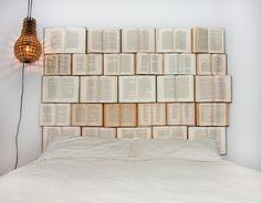 Anleiung für ein DIY Bettkopfteil aus gebrauchten Büchern