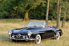 """mercedes roadster- my dad's car till the bottom rusted out. we called it the """"noisy car"""" when we were kids."""