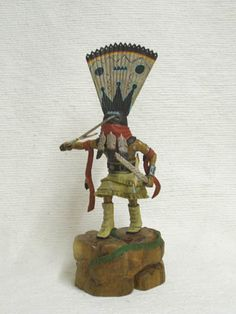 Native American Hopi Carved Apache Crown Dancer Katsina Doll by Milton Howard. Don't see many of these representations very often. Native American Dolls, Native American Indians, Native Americans, Hopi Indians, Doll Patterns Free, Ancient Aliens, Native Art, Beautiful Dolls, Navajo