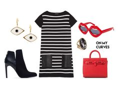 Black, white and #accessories  http://www.onmycurves.com