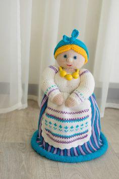 Doll maker. Doll for teapot. Present for tea fans. Doll maker crochet. Doll for teapot crochet. Doll maker handmade