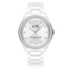 COACH Tristen White Ceramic Bracelet Watch