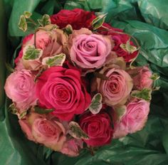 Mixed roses by Matthew Spriggs, Spriggs Florist