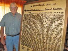 Navy Veteran, Charlie Kested, Carves the Declaration of Independence