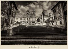 The Spanish Steps by Ken Kaminesky