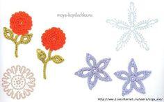 Apliques de flores a crochet patrones …