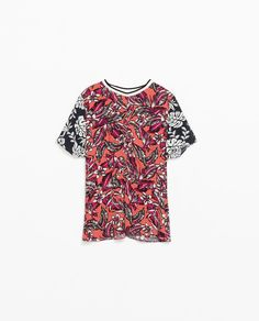 Image 7 of COMBINATION PRINTED TOP from Zara
