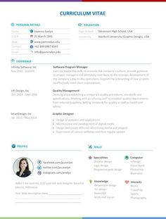 Template CV Bahasa Inggris Job Resume Samples, Curriculum, Management, Names, Graphic Design, Templates, Education, School, Resume