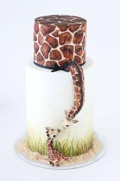 Gâteau maman girrafe