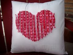 Faux Chenille Valentine Pillow--also cute embellishment on a little girl jumper