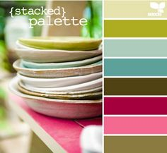 Use paint palettes to put together colors you love. Use your palate for your sofa, pillows,floor, not just wall colors. I would take this palette (I love all the colors) to do a whole room, or house. Sincerely, JoAnne Craft