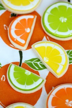 Citrus Decorated Cookies by Sweetopia