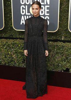 (GIST) Alicia Vikander, Michelle Williams & Emma Stone wore Louis Vuitton at the Globes | Foxgist.com